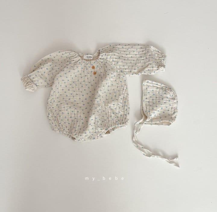MY BEBE - Korean Children Fashion - #Kfashion4kids - Star Shirring Bodysuit - 4