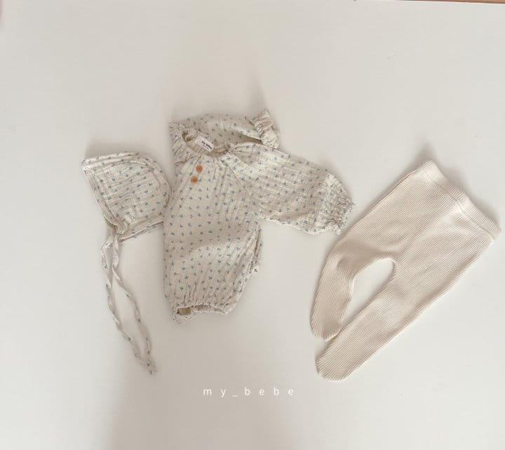 MY BEBE - Korean Children Fashion - #Kfashion4kids - Star Shirring Bodysuit - 6