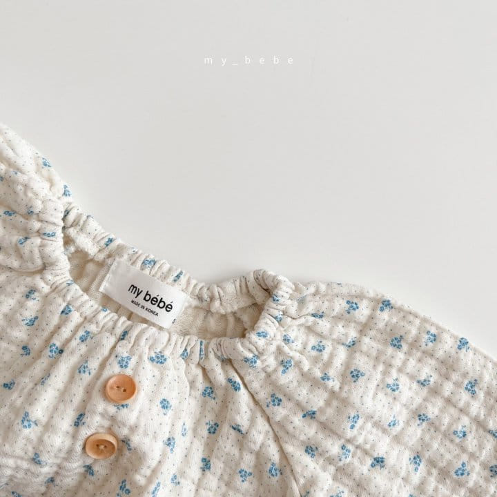 MY BEBE - Korean Children Fashion - #Kfashion4kids - Star Shirring Bodysuit - 9
