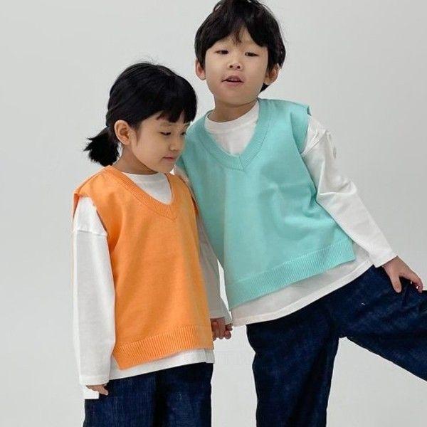 NRK - BRAND - Korean Children Fashion - #Kfashion4kids - Vivid Cotton Vest