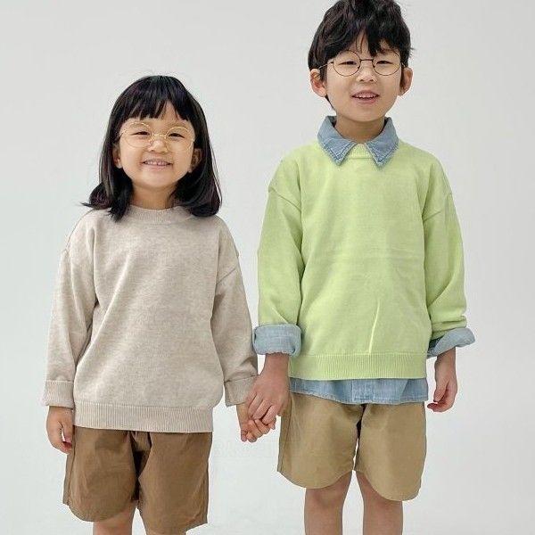 NRK - BRAND - Korean Children Fashion - #Kfashion4kids - Cotton Round Knit