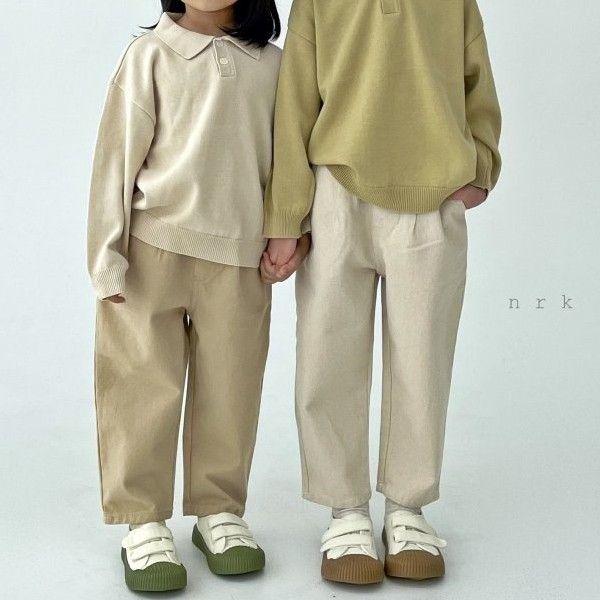 NRK - BRAND - Korean Children Fashion - #Kfashion4kids - Pin Tuck Pants