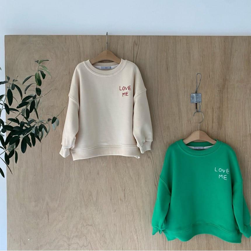 OUR - Korean Children Fashion - #Kfashion4kids - Love Me Sweatshirt