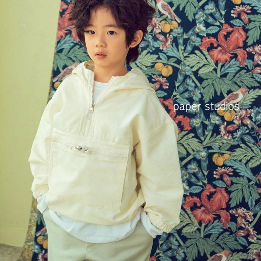 PAPER STUDIOS - BRAND - Korean Children Fashion - #Kfashion4kids - Acnea Zip-up Top