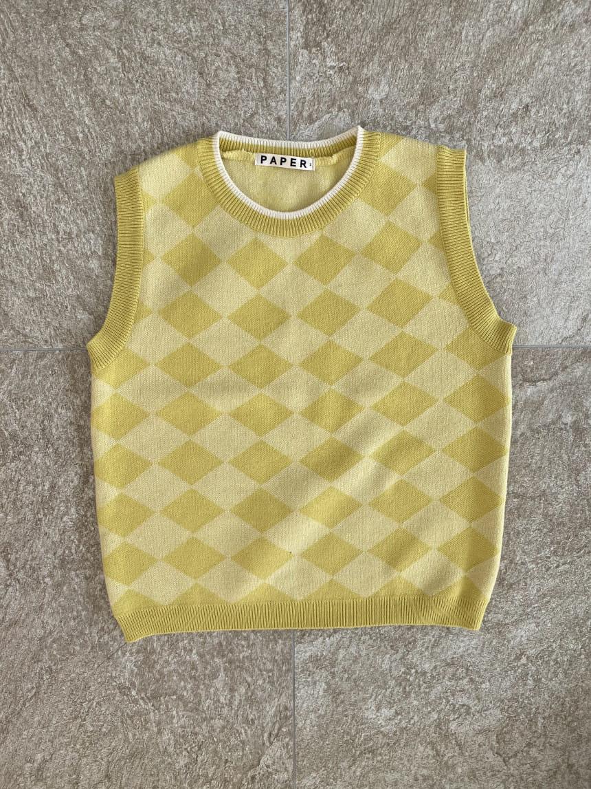 PAPER STUDIOS - Korean Children Fashion - #Kfashion4kids - Argyle Vest