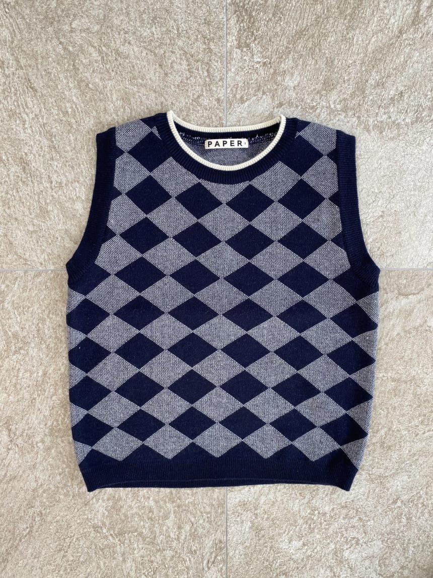PAPER STUDIOS - Korean Children Fashion - #Kfashion4kids - Argyle Vest - 2