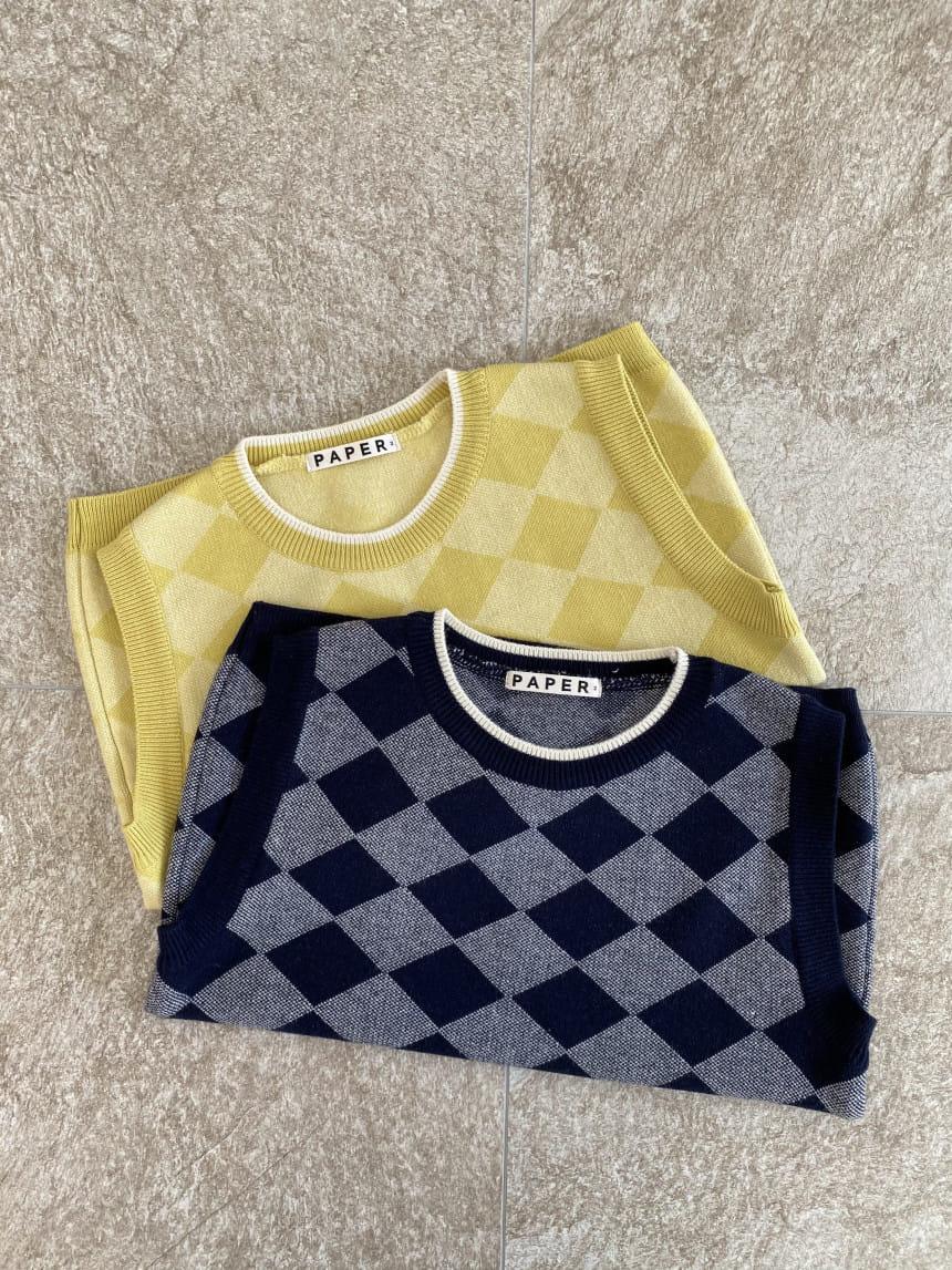 PAPER STUDIOS - Korean Children Fashion - #Kfashion4kids - Argyle Vest - 3