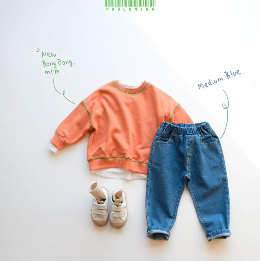 PAUL & NINA - Korean Children Fashion - #Kfashion4kids - 600 Gift Denim Pants - 7