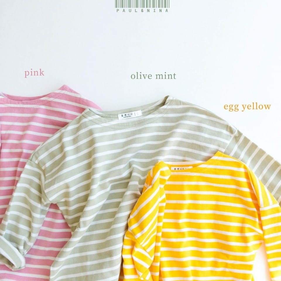 PAUL & NINA - Korean Children Fashion - #Kfashion4kids - Pretty Stripes Tee