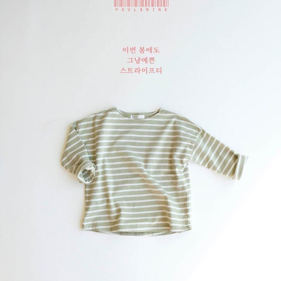 PAUL & NINA - Korean Children Fashion - #Kfashion4kids - Pretty Stripes Tee - 4