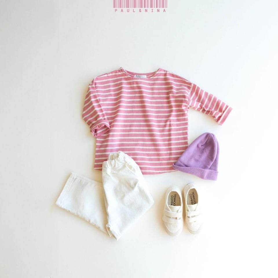 PAUL & NINA - Korean Children Fashion - #Kfashion4kids - Pretty Stripes Tee - 5