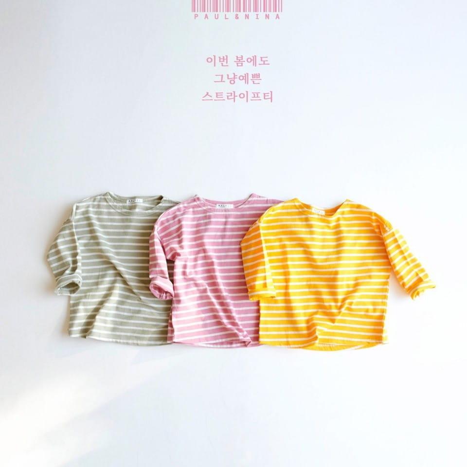 PAUL & NINA - Korean Children Fashion - #Kfashion4kids - Pretty Stripes Tee - 6