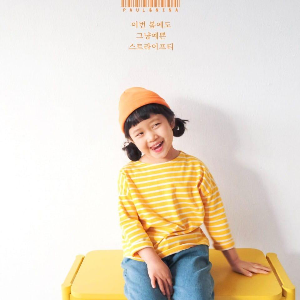 PAUL & NINA - BRAND - Korean Children Fashion - #Kfashion4kids - Pretty Stripes Tee