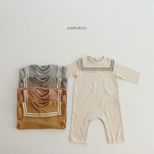 PEEKABOO - BRAND - Korean Children Fashion - #Kfashion4kids - Sailor Bodysuit