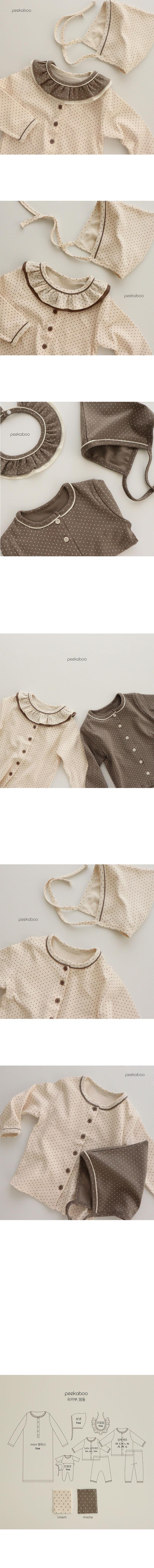PEEKABOO - Korean Children Fashion - #Kfashion4kids - Bebe Dot Easywear  - 2
