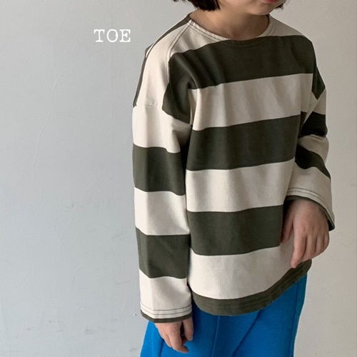 TOE - BRAND - Korean Children Fashion - #Kfashion4kids - Vixx Stripes Tee