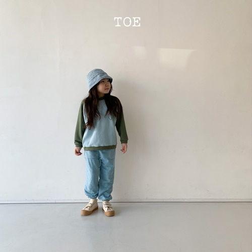 TOE - BRAND - Korean Children Fashion - #Kfashion4kids - Waffle Combination Top Bottom Set