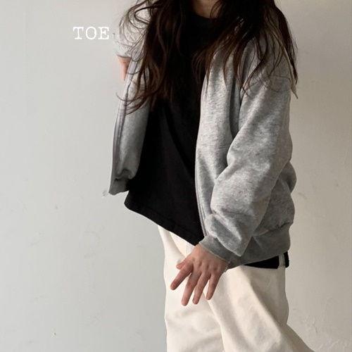 TOE - BRAND - Korean Children Fashion - #Kfashion4kids - Daily Hoody Zip-up Jacket