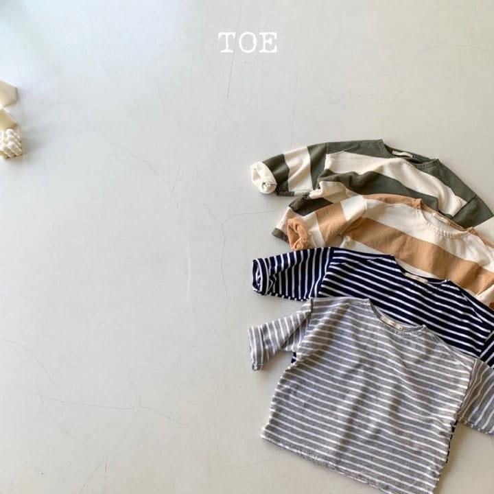 TOE - Korean Children Fashion - #Kfashion4kids - Big Stripe Tee