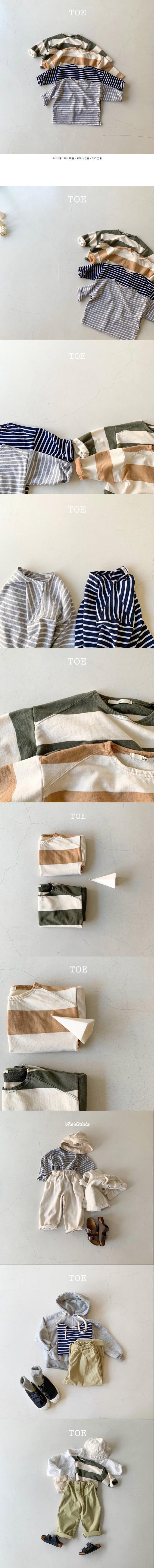 TOE - Korean Children Fashion - #Kfashion4kids - Big Stripe Tee - 2