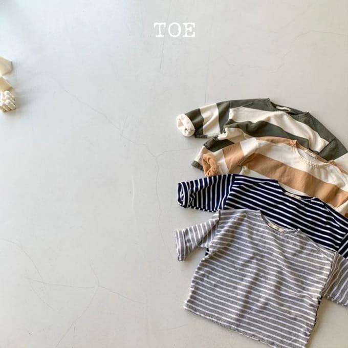 TOE - BRAND - Korean Children Fashion - #Kfashion4kids - Big Stripe Tee