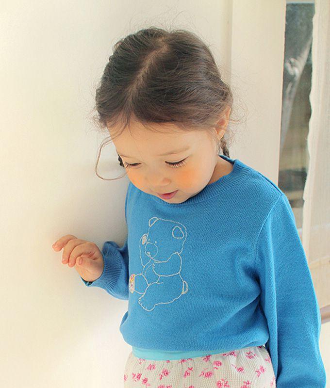AMBER - BRAND - Korean Children Fashion - #Kfashion4kids - Bear Pullover