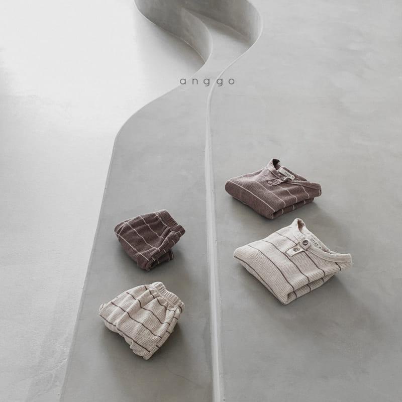 ANGGO - Korean Children Fashion - #Kfashion4kids - Cappuccino Top Bottom Set - 5