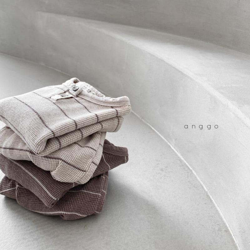 ANGGO - Korean Children Fashion - #Kfashion4kids - Cappuccino Top Bottom Set - 7