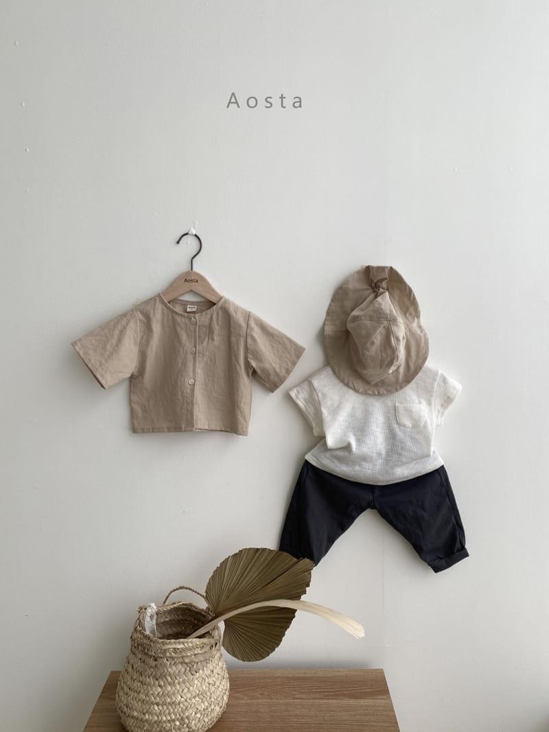 AOSTA - Korean Children Fashion - #Kfashion4kids - Butter Scoop Tee - 4