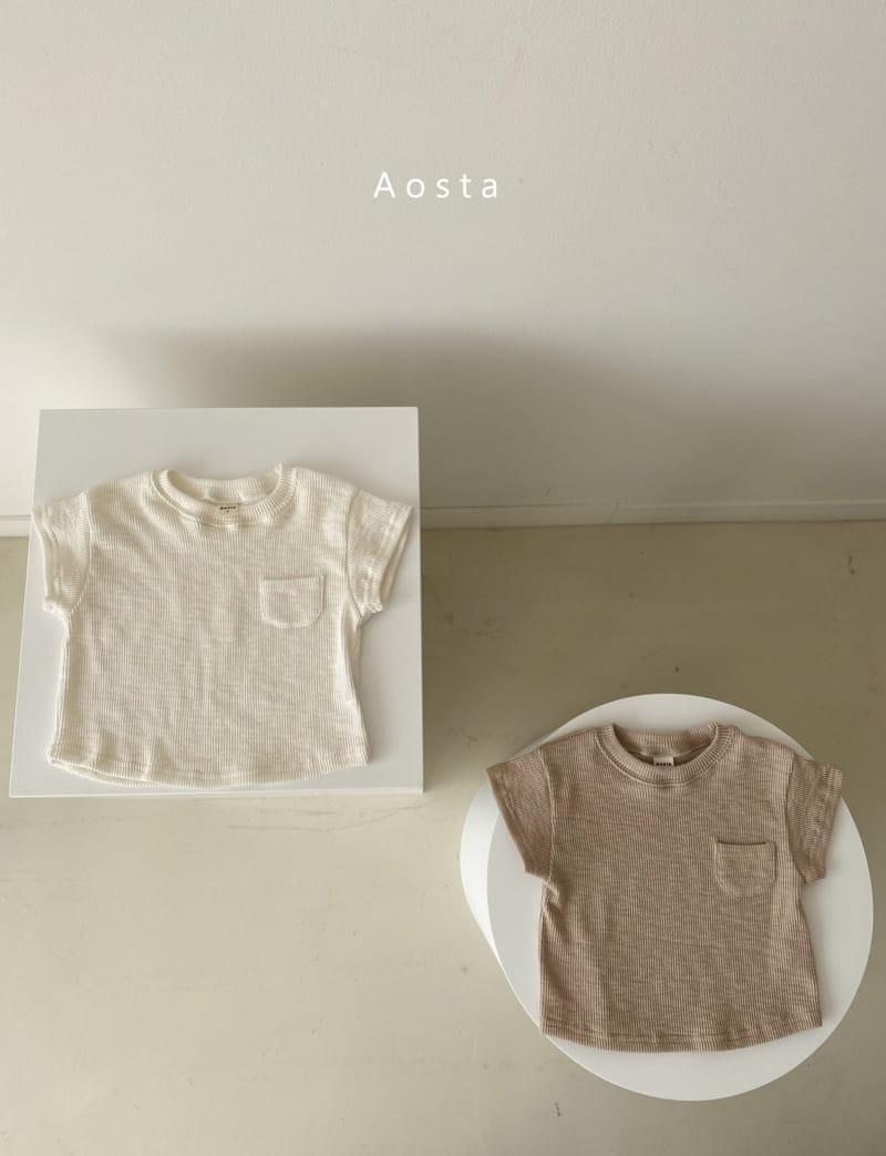 AOSTA - BRAND - Korean Children Fashion - #Kfashion4kids - Butter Scoop Tee