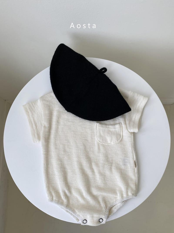 AOSTA - Korean Children Fashion - #Kfashion4kids - Butter Scoop Bodysuit - 2