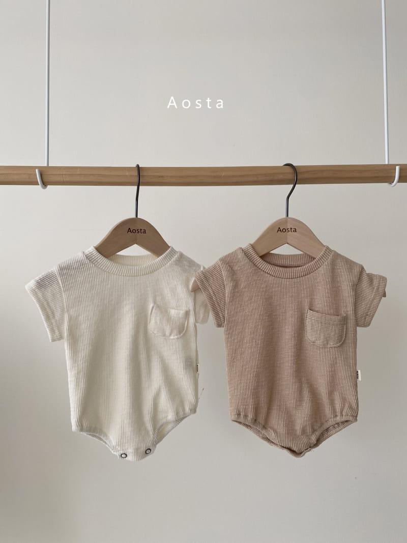 AOSTA - Korean Children Fashion - #Kfashion4kids - Butter Scoop Bodysuit - 4