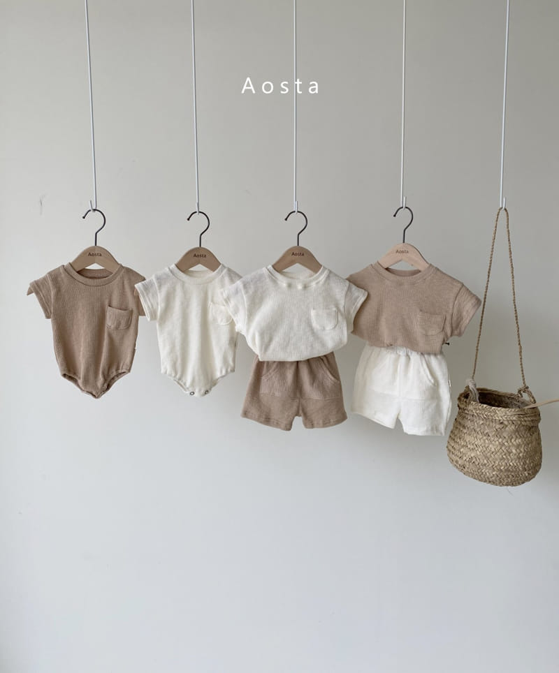 AOSTA - Korean Children Fashion - #Kfashion4kids - Butter Scoop Bodysuit - 5