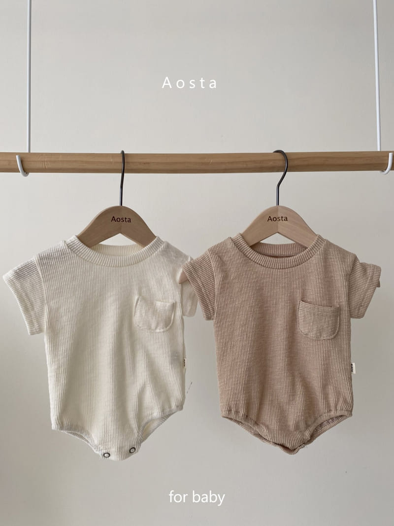 AOSTA - BRAND - Korean Children Fashion - #Kfashion4kids - Butter Scoop Bodysuit