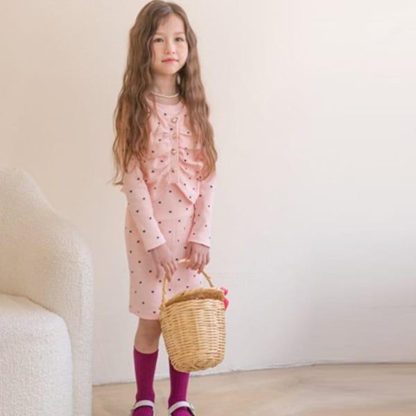 BERRY BERRY - BRAND - Korean Children Fashion - #Kfashion4kids - One-piece Cardigan Set