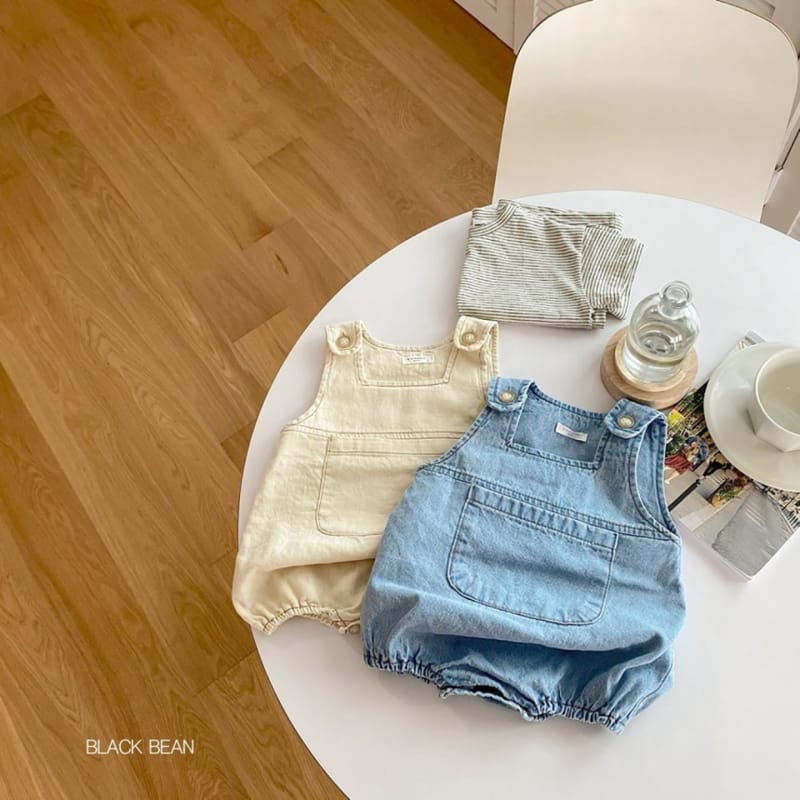 BLACK BEAN - BRAND - Korean Children Fashion - #Kfashion4kids - Bebe Tee Dungarees Set