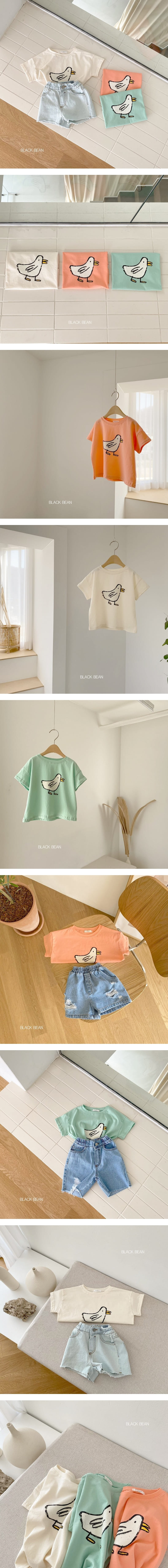 BLACK BEAN - Korean Children Fashion - #Kfashion4kids - Waddle Bebe Tee - 2