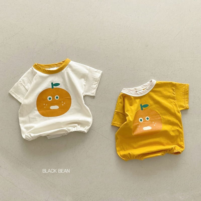 BLACK BEAN - BRAND - Korean Children Fashion - #Kfashion4kids - Orange Bodysuit