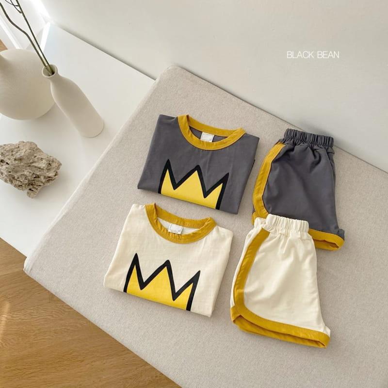 BLACK BEAN - BRAND - Korean Children Fashion - #Kfashion4kids - Crown Bebe Top Bottom Set