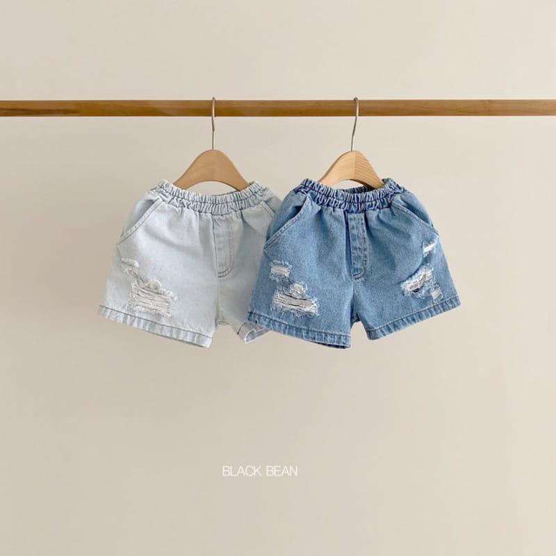 BLACK BEAN - BRAND - Korean Children Fashion - #Kfashion4kids - Denim Shorts