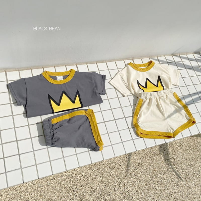 BLACK BEAN - BRAND - Korean Children Fashion - #Kfashion4kids - Crown Top Bottom Set