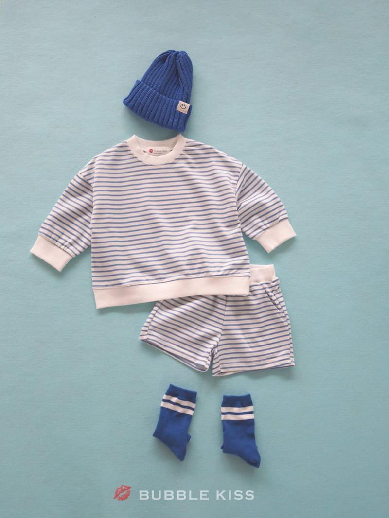 BUBBLE KISS - Korean Children Fashion - #Kfashion4kids - Spring Spring Stripes Top Bottom Set