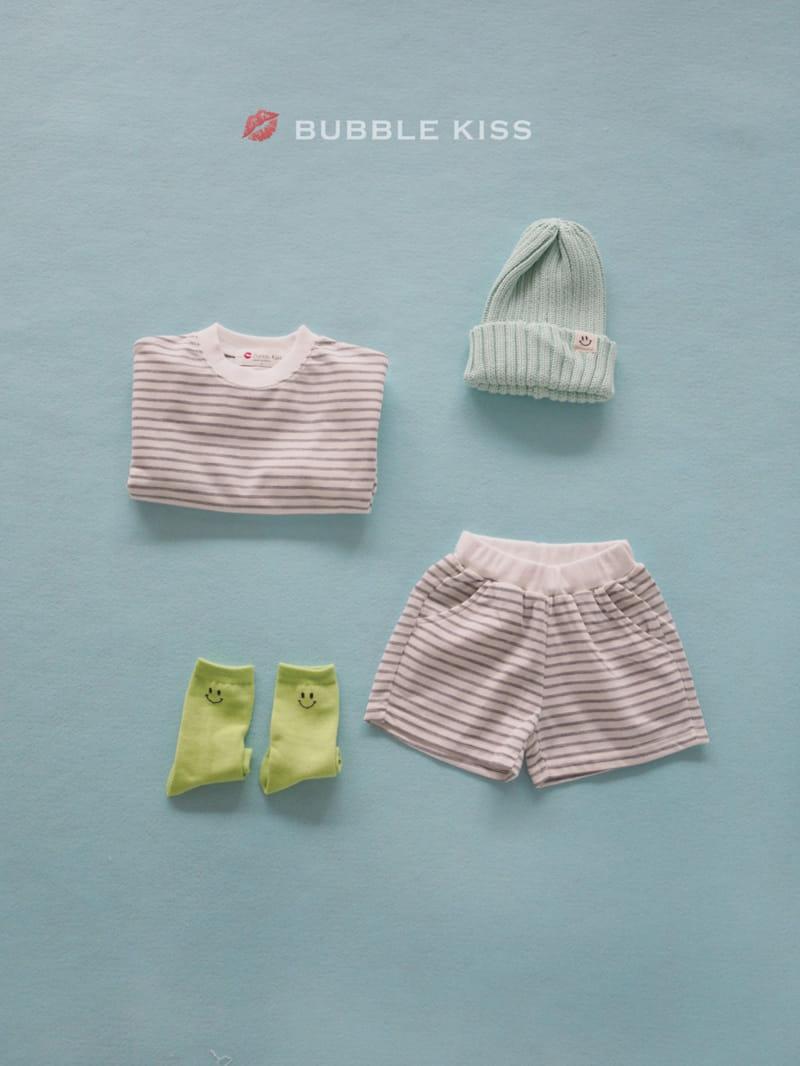 BUBBLE KISS - Korean Children Fashion - #Kfashion4kids - Spring Spring Stripes Top Bottom Set - 2