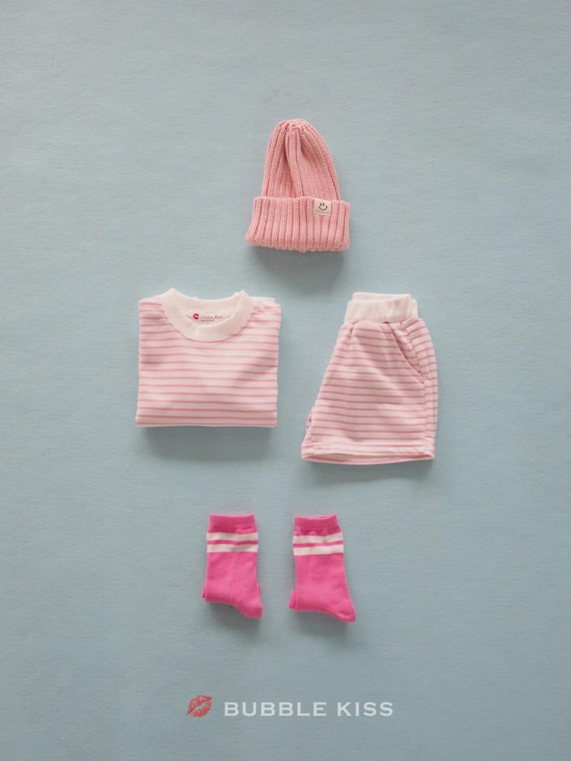BUBBLE KISS - Korean Children Fashion - #Kfashion4kids - Spring Spring Stripes Top Bottom Set - 4