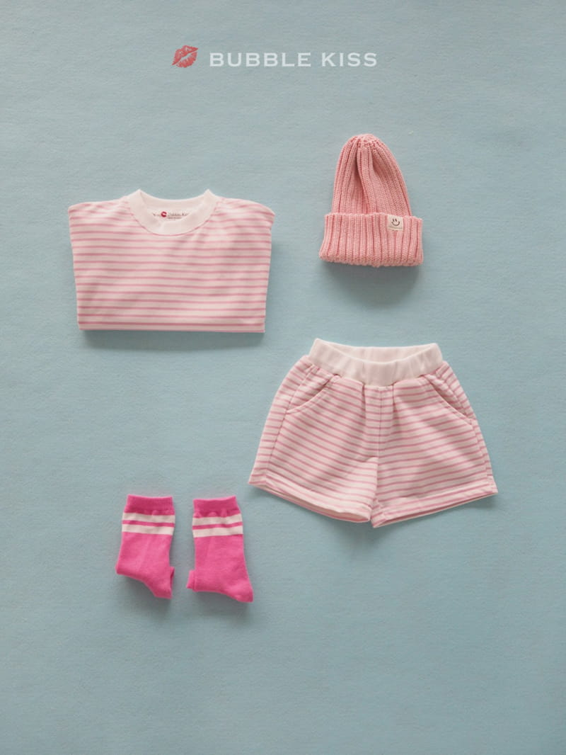 BUBBLE KISS - Korean Children Fashion - #Kfashion4kids - Spring Spring Stripes Top Bottom Set - 6
