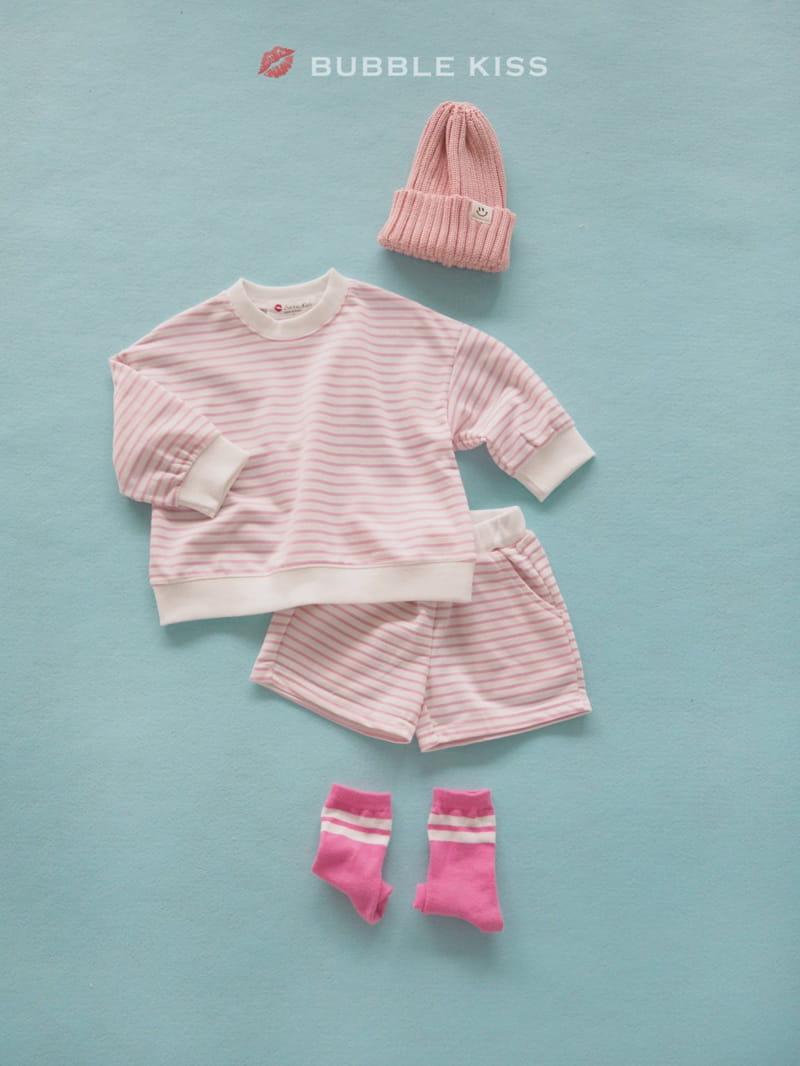 BUBBLE KISS - Korean Children Fashion - #Kfashion4kids - Spring Spring Stripes Top Bottom Set - 7