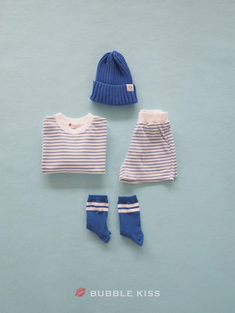 BUBBLE KISS - Korean Children Fashion - #Kfashion4kids - Spring Spring Stripes Top Bottom Set - 8
