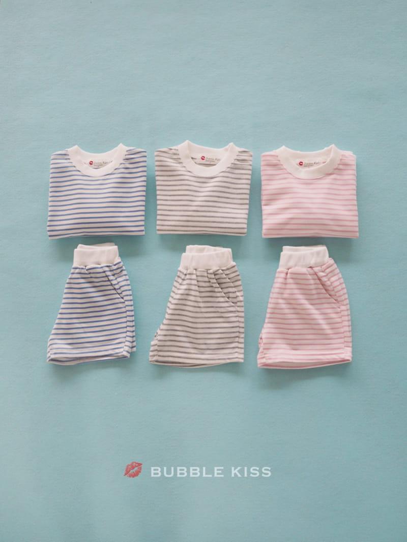 BUBBLE KISS - BRAND - Korean Children Fashion - #Kfashion4kids - Spring Spring Stripes Top Bottom Set