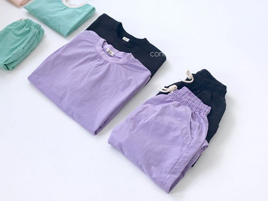 CONCOCTER - Korean Children Fashion - #Kfashion4kids - Mom Lalala Anorak Top Bottom Set  - 2