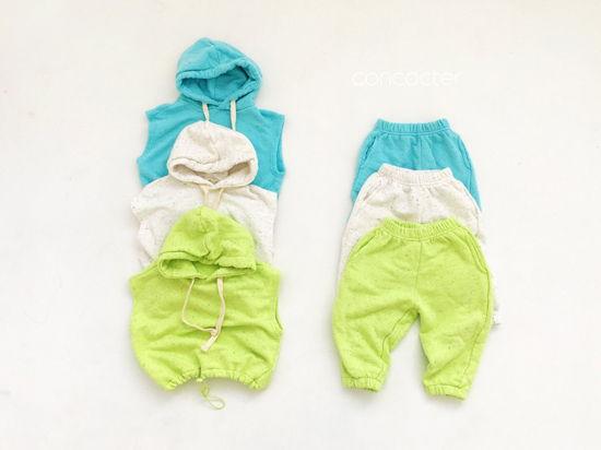 CONCOCTER - Korean Children Fashion - #Kfashion4kids - Kock Kock Kock Hoody Vest Bottom Set